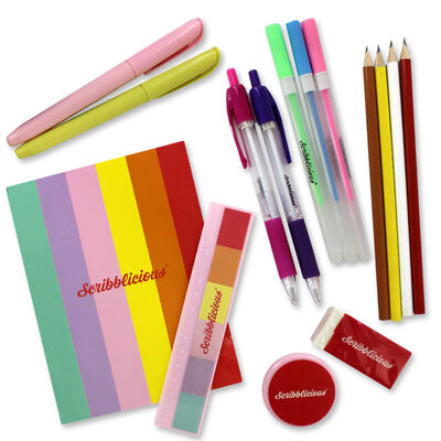 Scribblicious 15 Piece Pastel Stationery Set image number 3