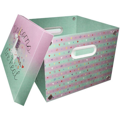 Unicorns are Real Collapsible Storage Box image number 2
