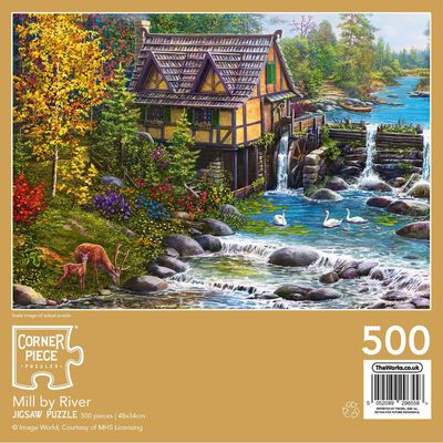 Mill by the River 500 Piece Jigsaw Puzzle image number 3