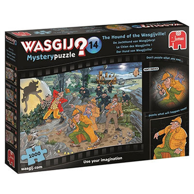 Wasgij Mystery 14 Hound of the Wasgijville 1000 Piece Jigsaw Puzzle image number 1
