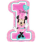 28 Inch Minnie Mouse 1st Birthday Helium Balloon image number 1