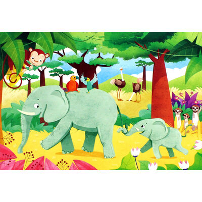 Jungle Friends 3-in-1 48 Piece Jigsaw Puzzle Set image number 3