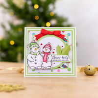 Acrylic Stamp Set: Warm Holiday Hugs