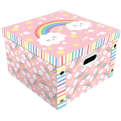 Pastel Rainbow Collapsible Storage Box image number 1