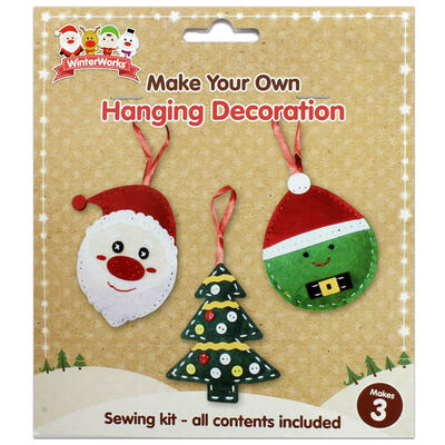 Make Your Own Hanging Decoration – Pack of 3 image number 1