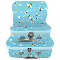 Bee Storage Suitcases - Set Of 3