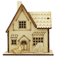 Mini Light Up Decorative Wooden House - Assorted
