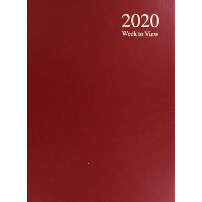 A4 2020 Red Week to View Diary image number 1