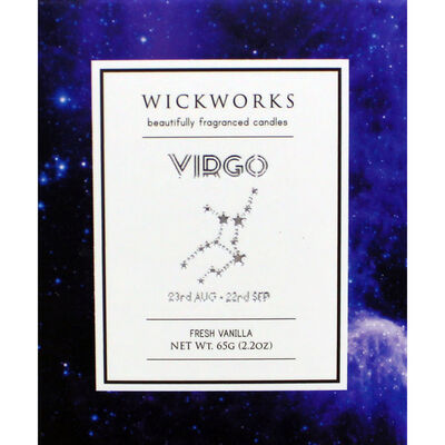 Zodiac Collection Virgo Fresh Vanilla Candle image number 3