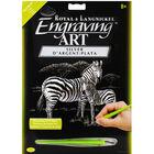 A4 Engraving Art Set: Zebras image number 1