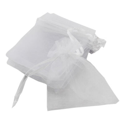 White Organza Bags - Pack Of 8 image number 1