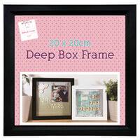 Black Deep Box Frame - 20cm x 20cm
