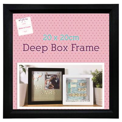 Black Deep Box Frame - 20cm x 20cm image number 2