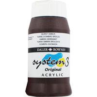 Daler Rowney System 3 Acrylic Paint - Burnt Umber