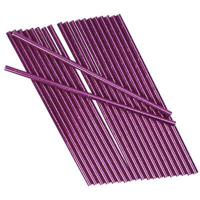 Pink Foil Paper Straws - 25 Pack image number 2