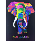 A4 Casebound Colourful Elephant Plain Notebook image number 1
