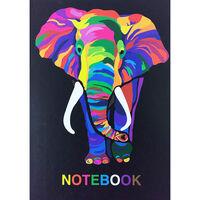 A4 Casebound Colourful Elephant Plain Notebook