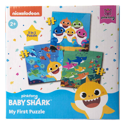 Baby Shark My First Puzzle 3-in-1 Jigsaw Puzzle image number 1