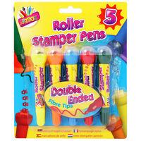 Roller Stamper Pens: Pack of 5