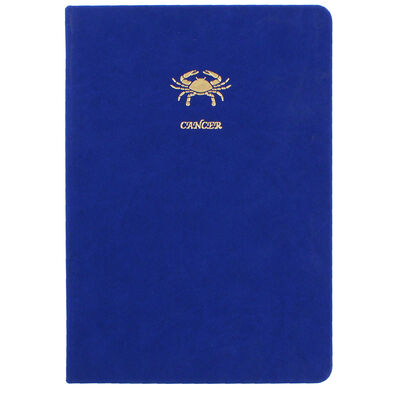 A5 Case Bound PU Zodiac Cancer Lined Journal image number 1