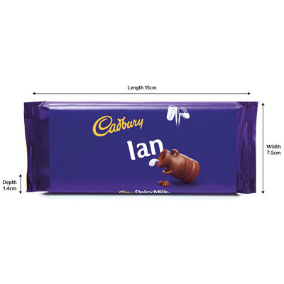 Cadbury Dairy Milk Chocolate Bar 110g - Ian image number 3