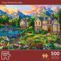 Cosy House by Lake 500 Piece Jigsaw Puzzle