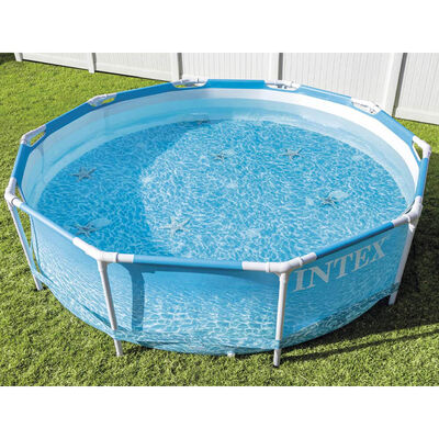 Intex Beachside Metal Frame Swimming Pool image number 3