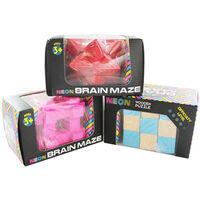 Neon Wooden Brain Maze - Assorted
