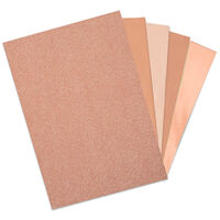 Sizzix Surfaces Rose Gold Opulent Cardstock: 50 Sheets