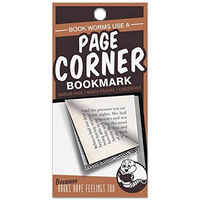 Page Corners Bookmarks: Book Worms Orange