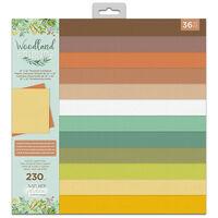 "Woodland Friends Textured Cardstock Pad 12 x 12"""