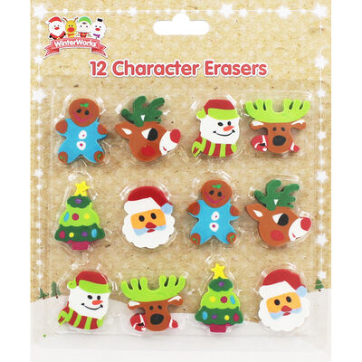Christmas Character Erasers image number 1