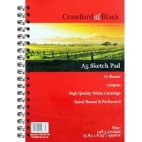 Crawford And Black A5 Sketch Pad