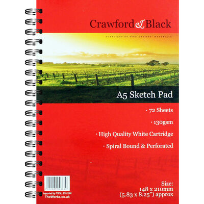 Crawford And Black A5 Sketch Pad image number 1