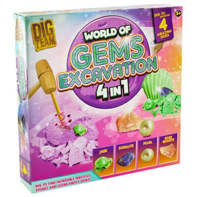 World of Gems 4-in-1 Excavation Kit image number 1