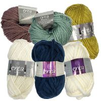 Wool Yarn Bundle: Pack of 42 Assorted Colours