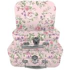 Pink Vintage Floral Storage Suitcases - Set Of 3 image number 1