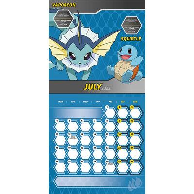Official Pokemon 2022 Square Calendar image number 2