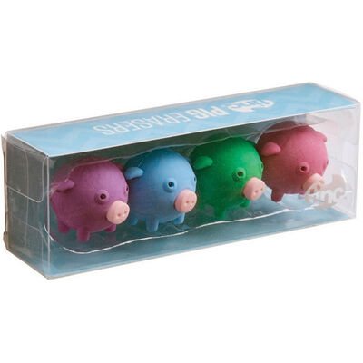 Tinc Pig Erasers Collection - 4 Pack image number 1