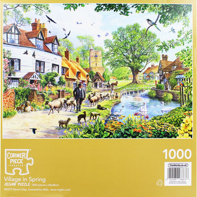Village in Spring 1000 Piece Jigsaw Puzzle image number 4