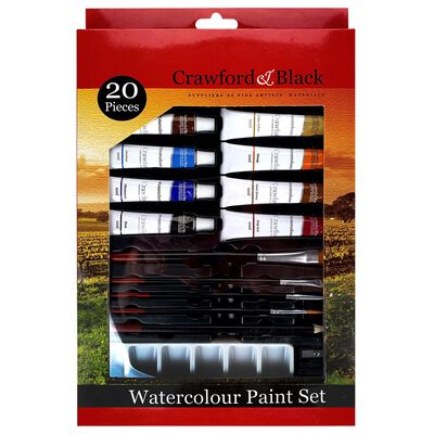 Crawford And Black Watercolour Paint Set - 20 Pieces image number 1