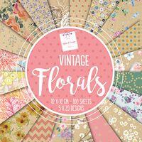Vintage Florals Design Pad: 10 x 10cm