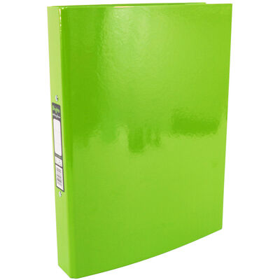 Bright Green A4 Ring Binder File image number 1