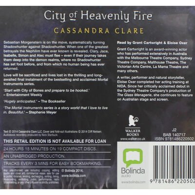 City of Heavenly Fire: 2 Case CD Set image number 3