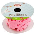 Pink 1m Felt Easter Bunny Ribbon image number 1