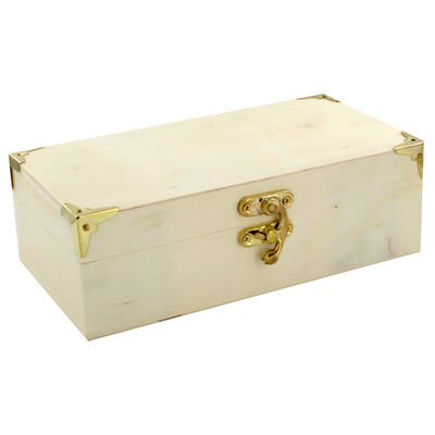Small Rectangular Wooden Box image number 1