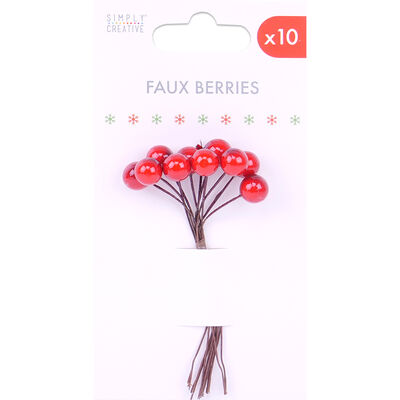 Red Faux Berries - Pack of 10 image number 1