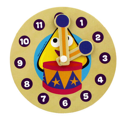 Cbeebies My First Wooden Clock - Assorted image number 3