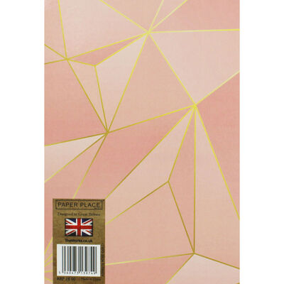 A5 Wiro Rose Gold Foil Lined Notebook image number 3