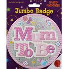 Pink Mum To Be Jumbo Badge image number 1